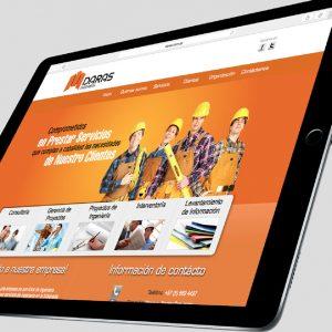 diseño de pagina web daras ingenieria